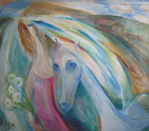 ArtMoiseeva.ru - Light - Woman and horse
