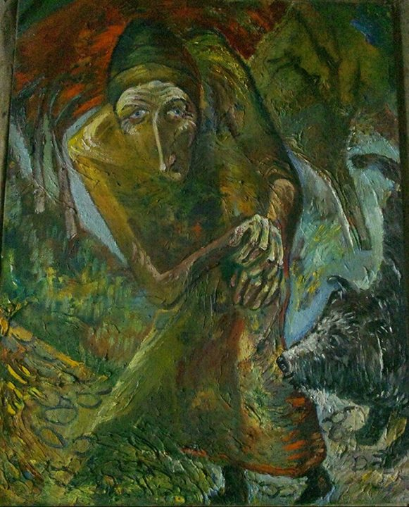 art-moiseeva.ru - Old woman and dog