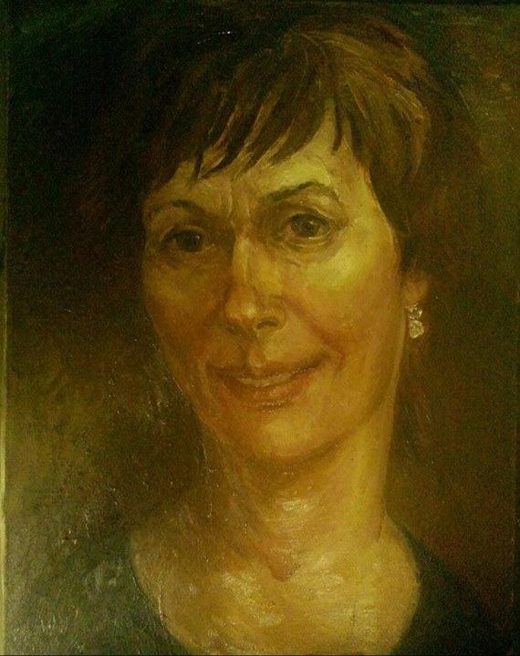 self-portrait, oil on canvas, 90*80, 2015