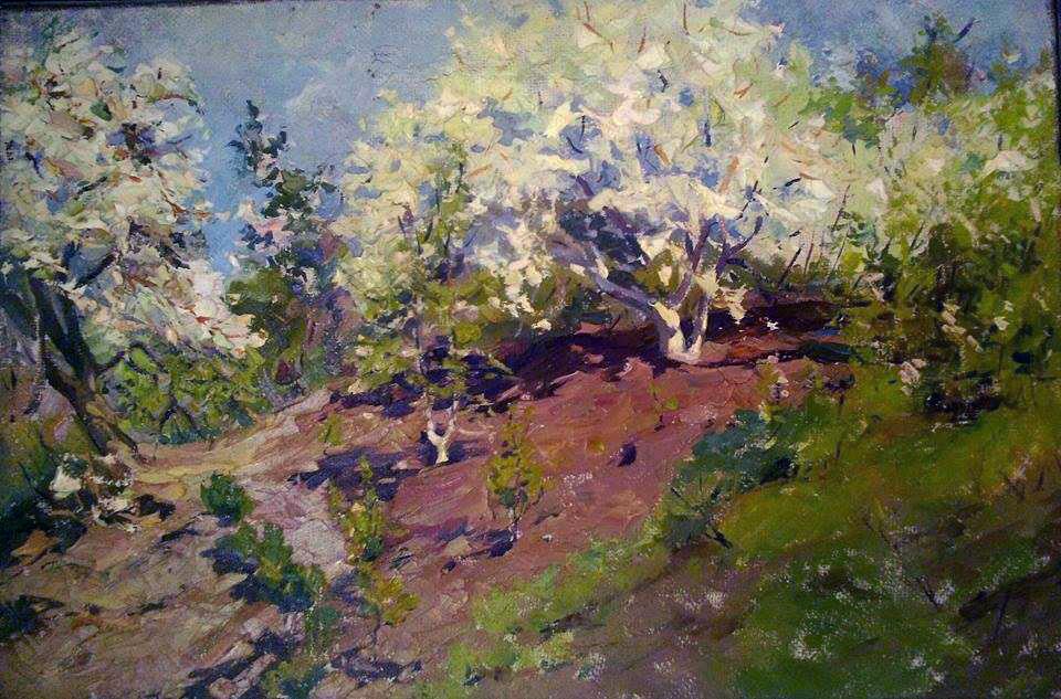 Яблоневый сад, В.С. Кондырев, холст, масло