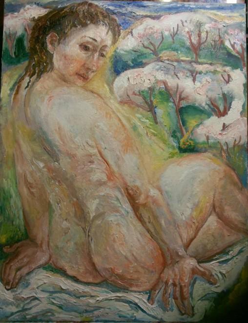 Natalia Moiseeva - The May, oil on canvas, 90-80, 2015