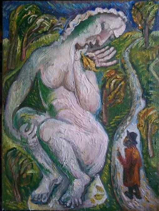 """Galatea"" oil on canvas 80 * 70 cm, 2015"