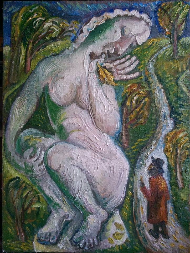 """Galatea"" oil on canvas 80 * 70 cm, 2015"