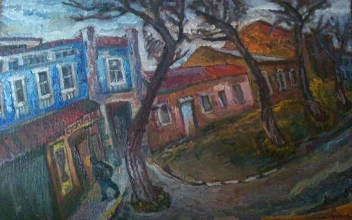 """Natalya Moiseeva """"Late Autumn"""" oil on canvas, 2015, 65-90"""