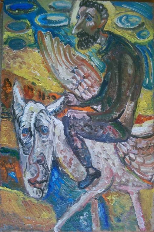 "Natalya Moiseeva ""Poet ..."" oil on canvas, 2015, 90-70"