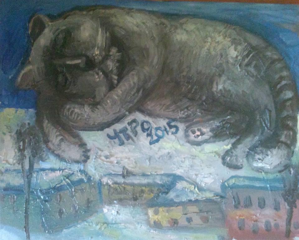 """Natalya Moiseeva """"Morning 2015"""", oil on canvas, 30*40 cm, 2015"""