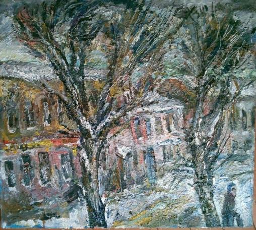 """Natalya Moiseeva """"Winter Day"""", oil on canvas, 80 * 90, 2016"""