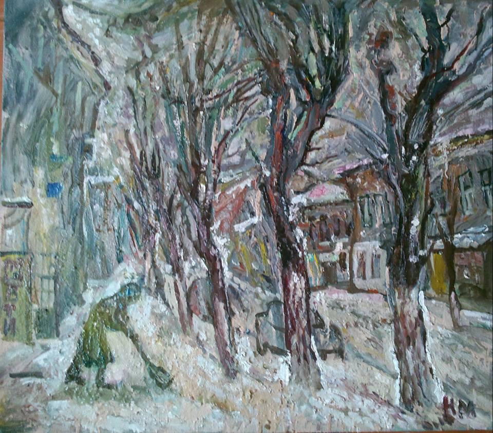 "Наталья Моисеева - ""Снег идет"", холст, масло, 80-90, 2016"