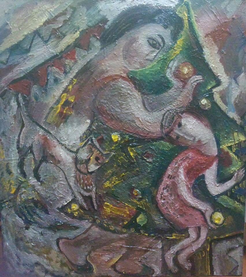 """Наталья Моисеева """"Старая сказка"""" холст, масло, 95-80, 2015"""