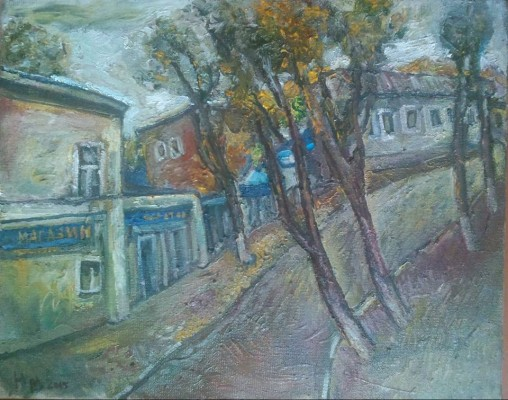 "Natalya Moiseeva ""Quiet day"", oil on canvas, 50*70cm, 2015"