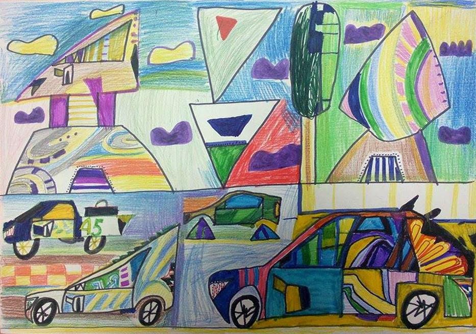 Рисунок Вани, 9 лет