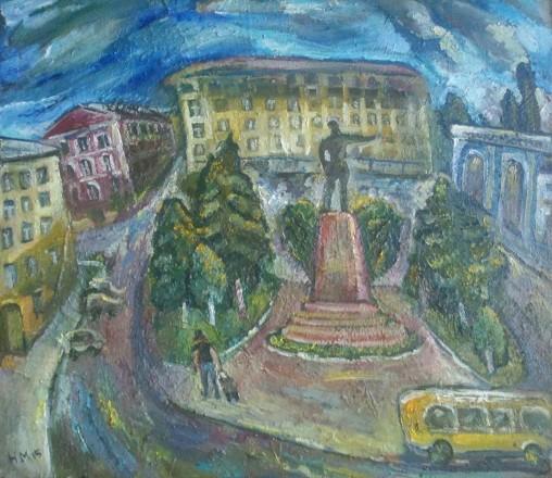 Natalya Moiseeva 'Returning home', oil on canvas, 80*100cm, 2015