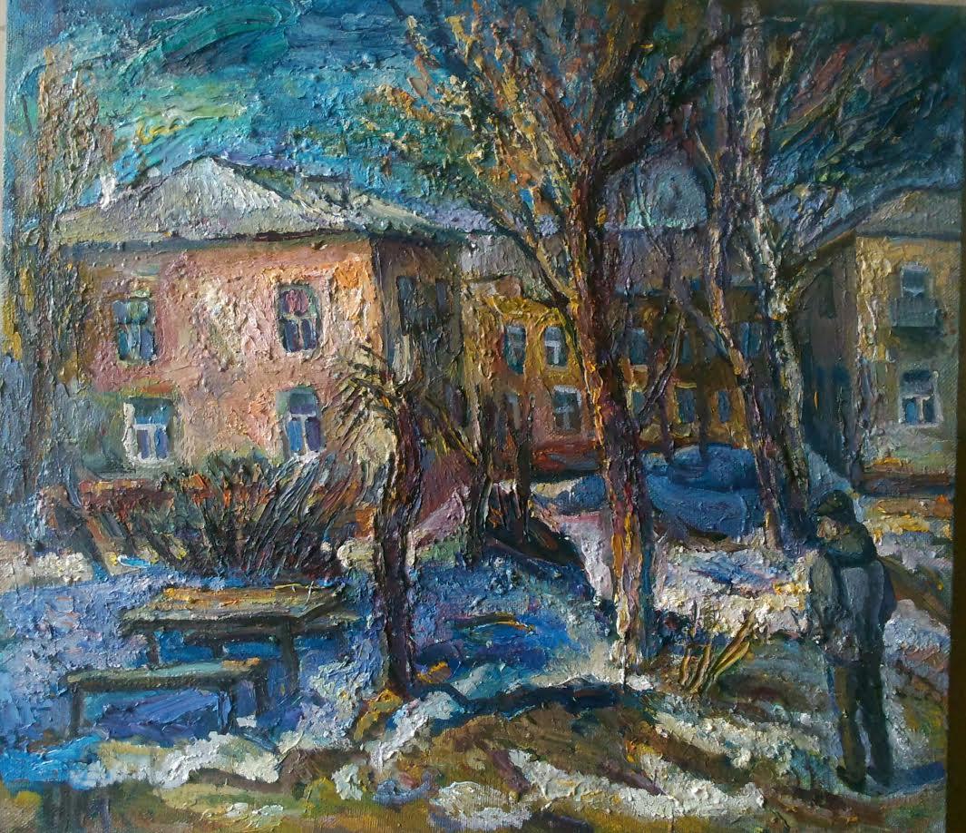 Наталья Моисеева «Зима уже близко», х.м. 80*90, 2016